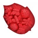 Φόρμα σιλικόνης φύλλο  για 6 κεκάκια με διάφορα σχέδια